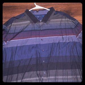 Perry Ellis Striped Dress Shirt 3x